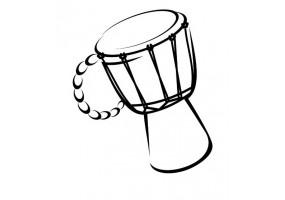 Sticker musique tam-tam