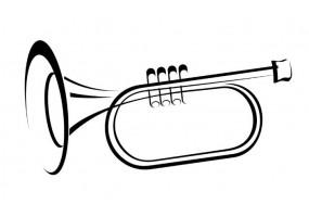 Sticker musique trompette
