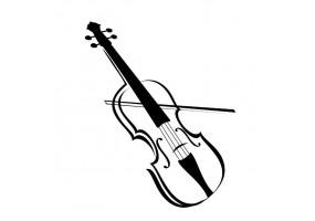 Sticker musique violon