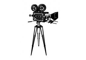 Sticker cinéma caméra sur pied