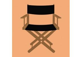 Sticker cinéma chaise