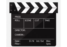 Sticker cinéma clap fermé
