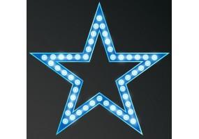 Sticker cinéma étoile bleue