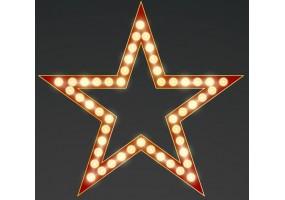 Sticker cinéma étoile rouge