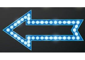 Sticker cinéma lumière flèche bleue