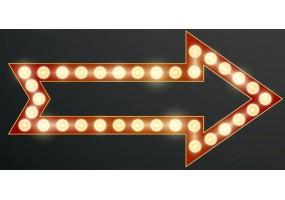 Sticker cinéma lumière flèche