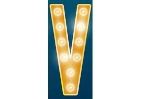 Sticker cinéma lumière lettre jaune