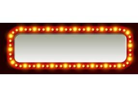 Sticker cinéma lumière miroir