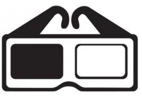 Sticker cinéma lunette 3D