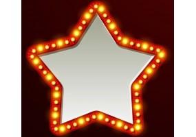 Sticker cinéma miroir étoile