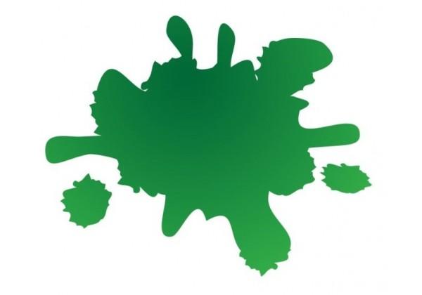 Sticker tache de couleur verte