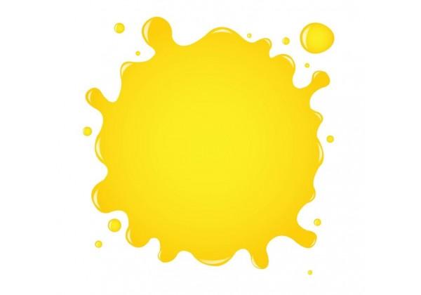 Sticker tache de couleur jaune