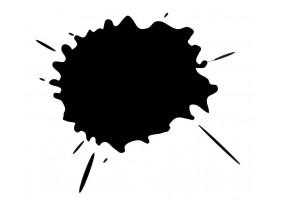 Sticker tache de couleur noire