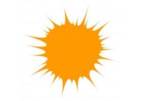 Sticker tache de couleur orange