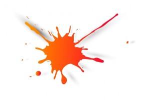 Sticker tache de couleur petite