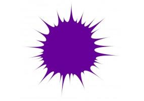 Sticker tache de couleur violet