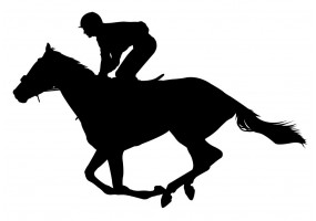 Sticker sport cheval