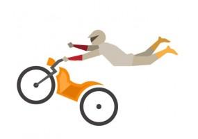 Sticker sport moto