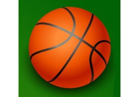 Sticker sport balle basketball