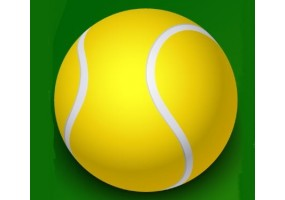 Sticker sport balle tennis