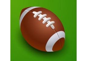 Sticker sport balle rugby