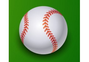 Sticker sport balle baseball