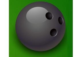 Sticker sport boule bowling