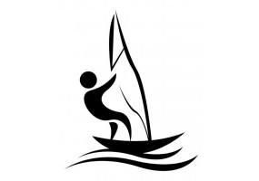 Sticker sport bateau voile