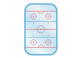 Sticker sport hockey sur glace