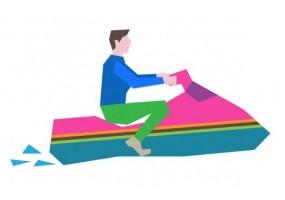 Sticker sport jet ski