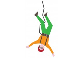 Sticker sport saut élastique