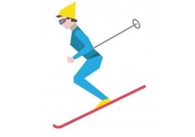 Sticker sport ski