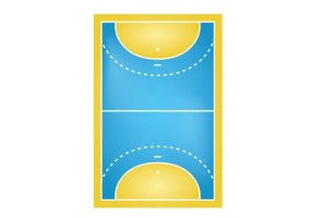 Sticker sport terrain handball