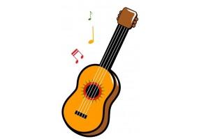 Sticker cactus guitare