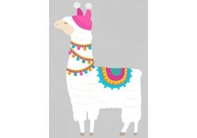 Sticker cactus lama bonnet