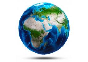 Sticker planète continent