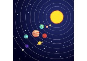 Sticker planète galaxie