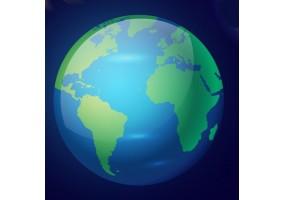 Sticker planète bleue