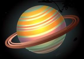 Sticker planète saturne