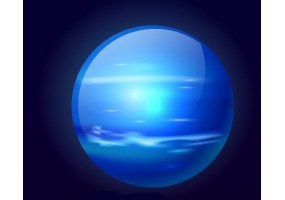 Sticker planète Neptune