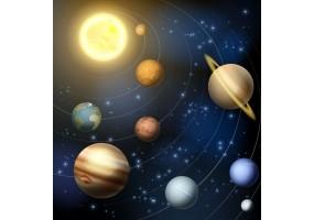 Sticker planète système solaire