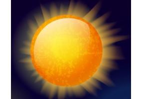 Sticker planète soleil