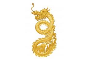 Sticker dragon doré