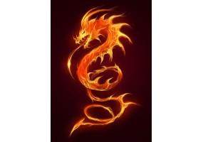 Sticker dragon feu