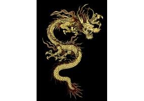 Sticker dragon jaune