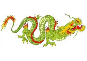 Sticker dragon vert