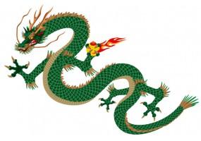Sticker dragon serpent