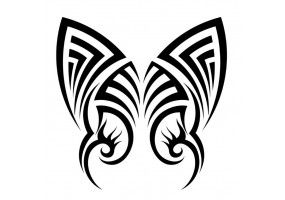 Sticker ailes de papillon