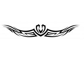 Sticker tribal casque moto