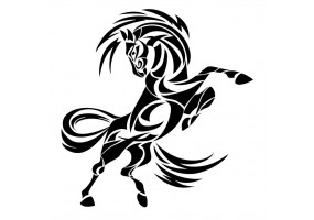 Sticker tribal cheval